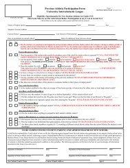 Previous Athletic Participation Form (PAPF) - University ...