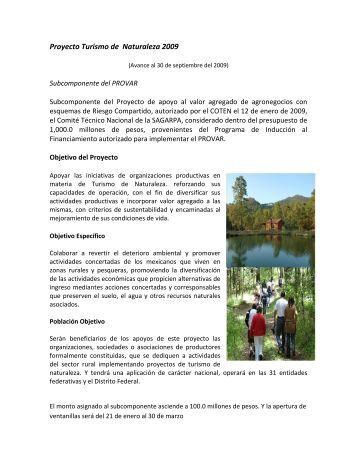 Proyecto Turismo de Naturaleza 2009 - Firco