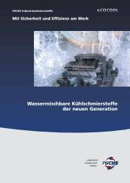 Wassermischbare Kühlschmierstoffe der neuen Generation