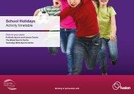 School Holidays - Fusion Lifestyle