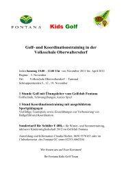 Kids Golf - Golfclub Fontana