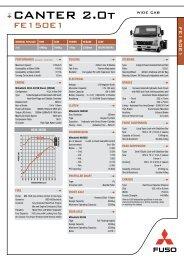 Mitsubishi Fuso Truck Specifications
