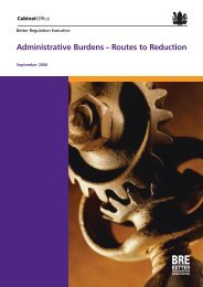 Administrative burdens: routes to reduction - DTI Home Page