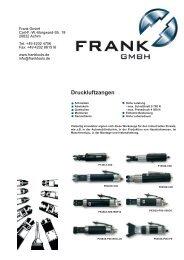 Druckluftzangen - Frank Drucklufttechnik