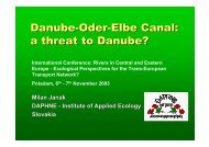 Danube-Oder-Elbe Canal: a threat to Danube?