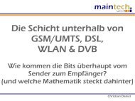 Die Schicht unterhalb von GSM/UMTS, DSL, WLAN & DVB