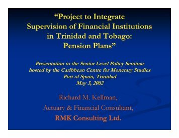 """Project to Integrate Supervision of Financial Institutions in Trinidad ..."