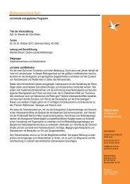 Geplanter Programmablauf Bildungsurlaub Sylt 2013... - forum unna