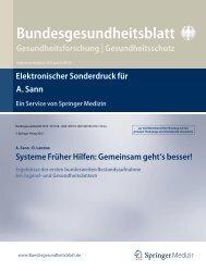 Systeme Früher Hilfen: Gemeinsam geht´s besser! - Nationales ...