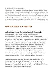 Vedvarende energi skal være lokalt forbrugereje