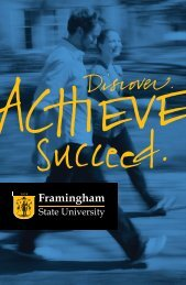 Undergraduate Viewbook - Framingham State University