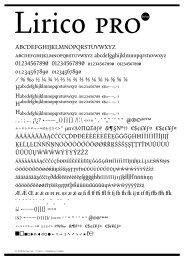 Download Lirico Sample PDF - FontShop
