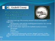 Garfield County economic development community presentation