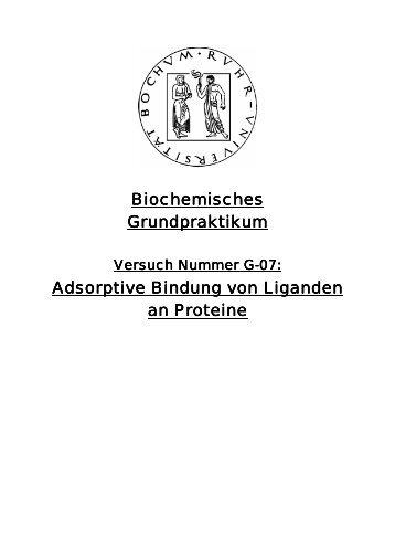 Adsorptive Bindung von Liganden an Proteine - funnycreature.de