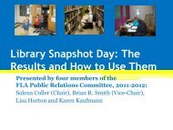 Library Snapshot Day: The Results and How to Use Them - A80