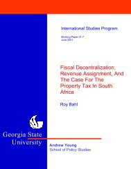 Fiscal Decentralization, Revenue Assignment, And The Case For ...