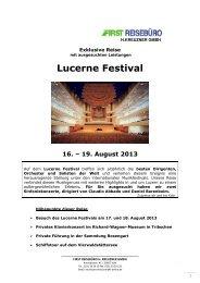 Lucerne Festival - First Reisebüro