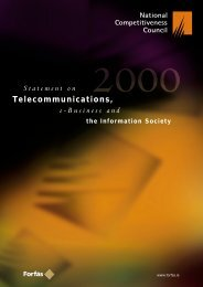 Statement on Telecommunications, e-Business and the ... - Forfás