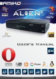 Amiko Alien 2 User Manual - Freeviewshop.co.nz