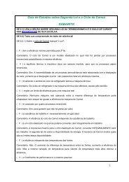 Guia de Estudos sobre Segunda Lei e o Ciclo de Carnot GABARITO