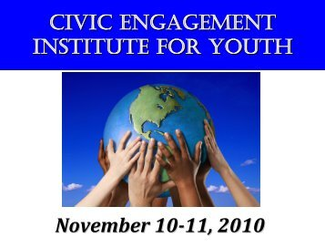 Youth Civic Engagement Training Institute, November 2010