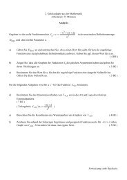 Beispiel einer 2. Schulaufgabe - FOS-Friedberg
