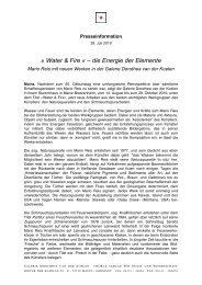 Water & Fire « – die Energie der Elemente - Galerie Dorothea van ...