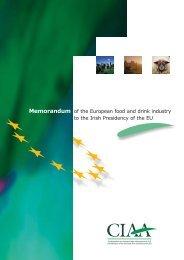 .Memorandum IRLANDE - FoodDrinkEurope