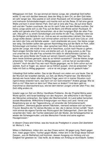 25.12 Micha 4 1. Weihnachtstag (PDF) Pfr. Heiko
