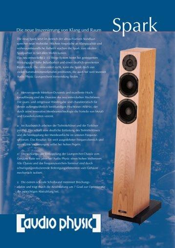 flyer «die neue Inszenierung von Klang und Raum - Audio Physic