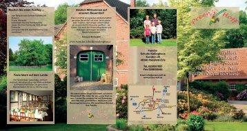 Flyer - Freizeit-Karte