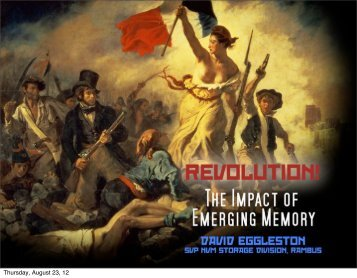 Revolution! The Impact of Emerging Memory Technologies