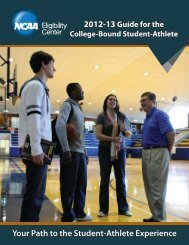 Guide for the College-Bound Student-Athlete