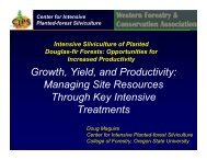 Growth, Yield, and Productivity - Forest Science Labs - Research ...