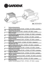 OM, Gardena, lightline Transformers ST 30/1 – ST 60/2 – ST 100/2 ...