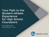 NCAA Division I Eligibility Requirements Presentation