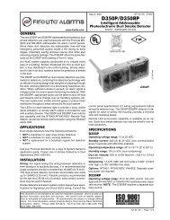 D350P/D350RP Addressable Photoelectric Duct ... - Fire-Lite Alarms