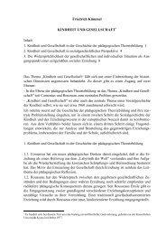 Friedrich Kümmel KINDHEIT UND GESELLSCHAFT Inhalt 1 ...