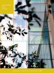 leasinvest real estate JaarliJKs FinanCieel verslaG 2010 - FSMA