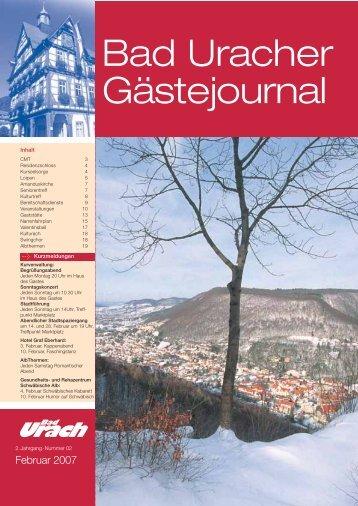 Februar 2007 (PDF) - Bad Urach