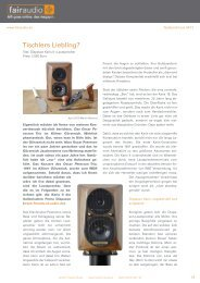 Testbericht Diapason KARIS bei fairaudio 04/2012 - Friends of Audio