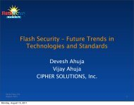 Flash Security - Future Trends in Technologies and Standards