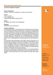 Geplanter Programmablauf Bildungsurlaub Hiddensee 2013... - forum unna
