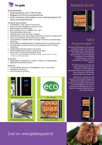 Snel en energiebesparend - Fri-jado