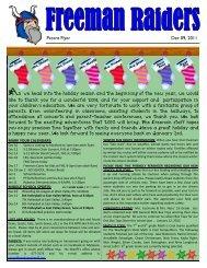 Parent Flyer Dec 09, 2011 - Freeman School District