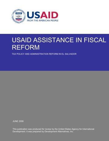 Over the past 14 years, USAID has provided about ... - Fiscal Reform