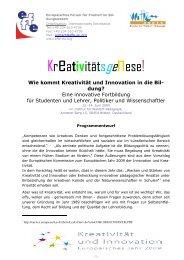 Kreativitätsgenese! - Freinet-Kooperative eV
