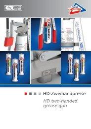 Pruduktinformation HD-Zweihandpresse - FUCHS LUBRITECH GmbH
