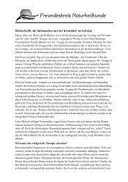 Pressemitteilung Vortrag Krebsbehandlung - Freundeskreis ...
