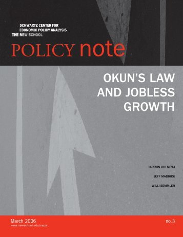 Okun's Law and Jobless Growth